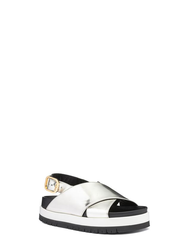 Marni Fussbett crossover in laminated calfskin Woman - 2