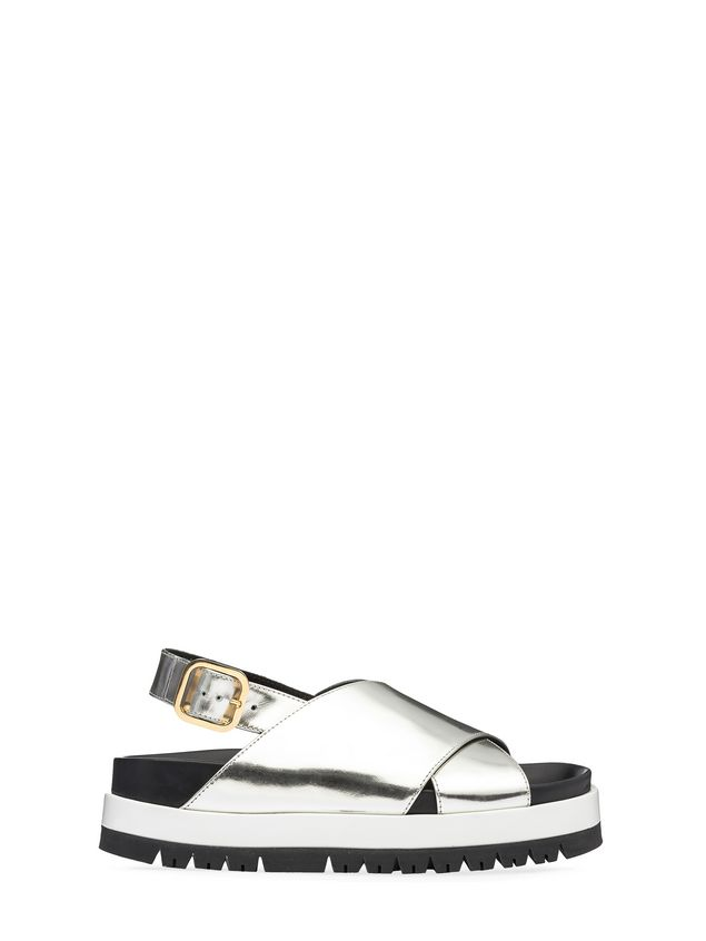 Marni Fussbett crossover in laminated calfskin Woman - 1