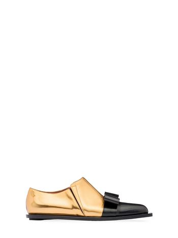 Marni Loafer in laminated calfskin with bow Woman