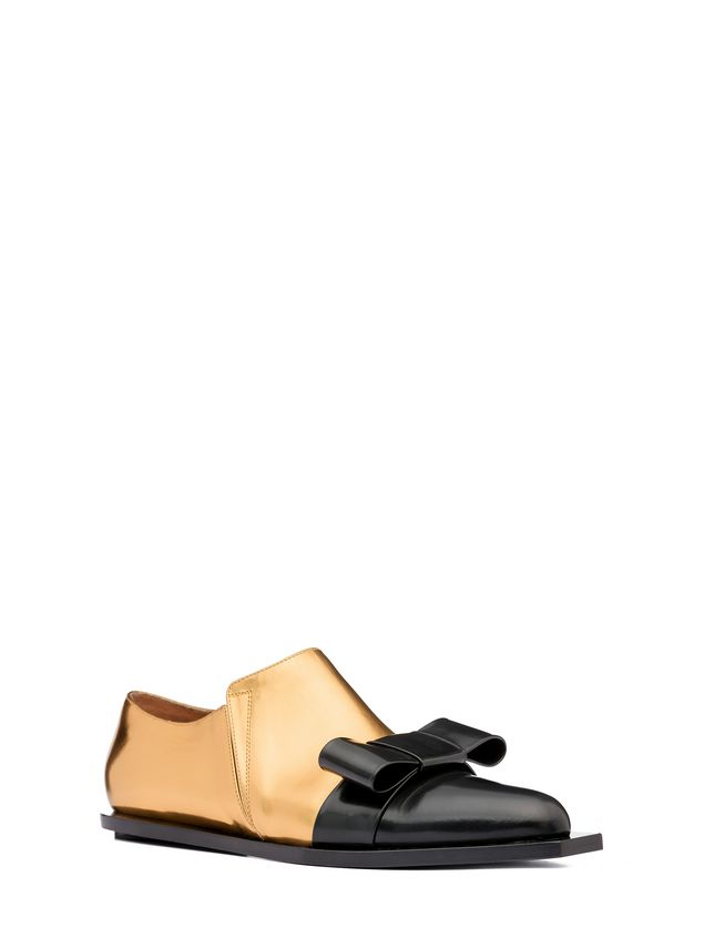 Marni Loafer in laminated calfskin with bow Woman - 2