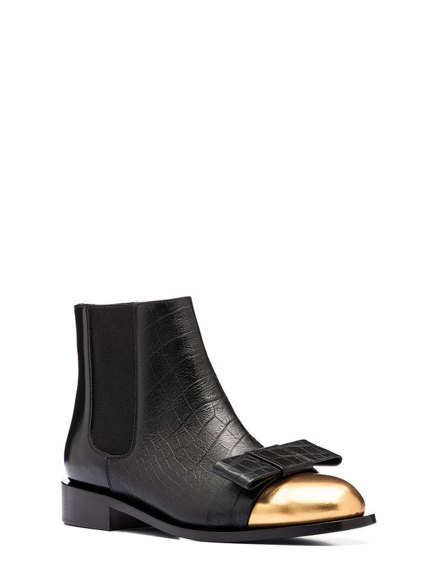 Marni Round toe half boot in calfskin Woman - 2