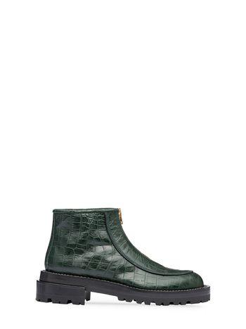 Marni Round toe half boot in croc calfskin Woman