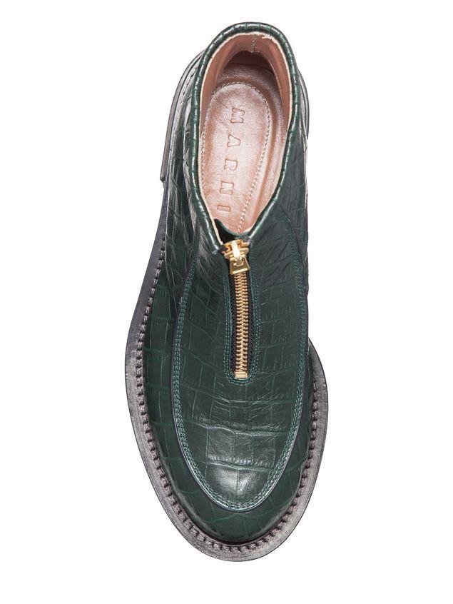 Marni Round toe half boot in croc calfskin Woman - 4