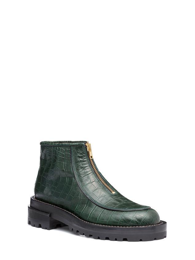 Marni Round toe half boot in croc calfskin Woman - 2