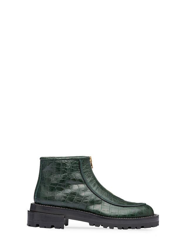 Marni Round toe half boot in croc calfskin Woman - 1