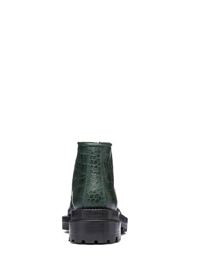 Marni Round toe half boot in croc calfskin Woman - 3