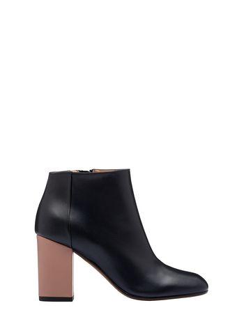 Marni Square toe half boot in lambskin Woman