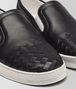 BOTTEGA VENETA SAIL SNEAKER IN NERO CALF, INTRECCIATO DETAILS Trainers D ap