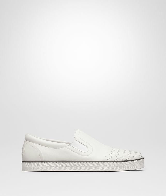 BOTTEGA VENETA BIANCO INTRECCIATO CALF SAIL SNEAKER Trainers Woman fp