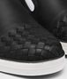 BOTTEGA VENETA SAIL SNEAKER IN NERO CALF, INTRECCIATO DETAILS Sneaker or Sandal Man ap