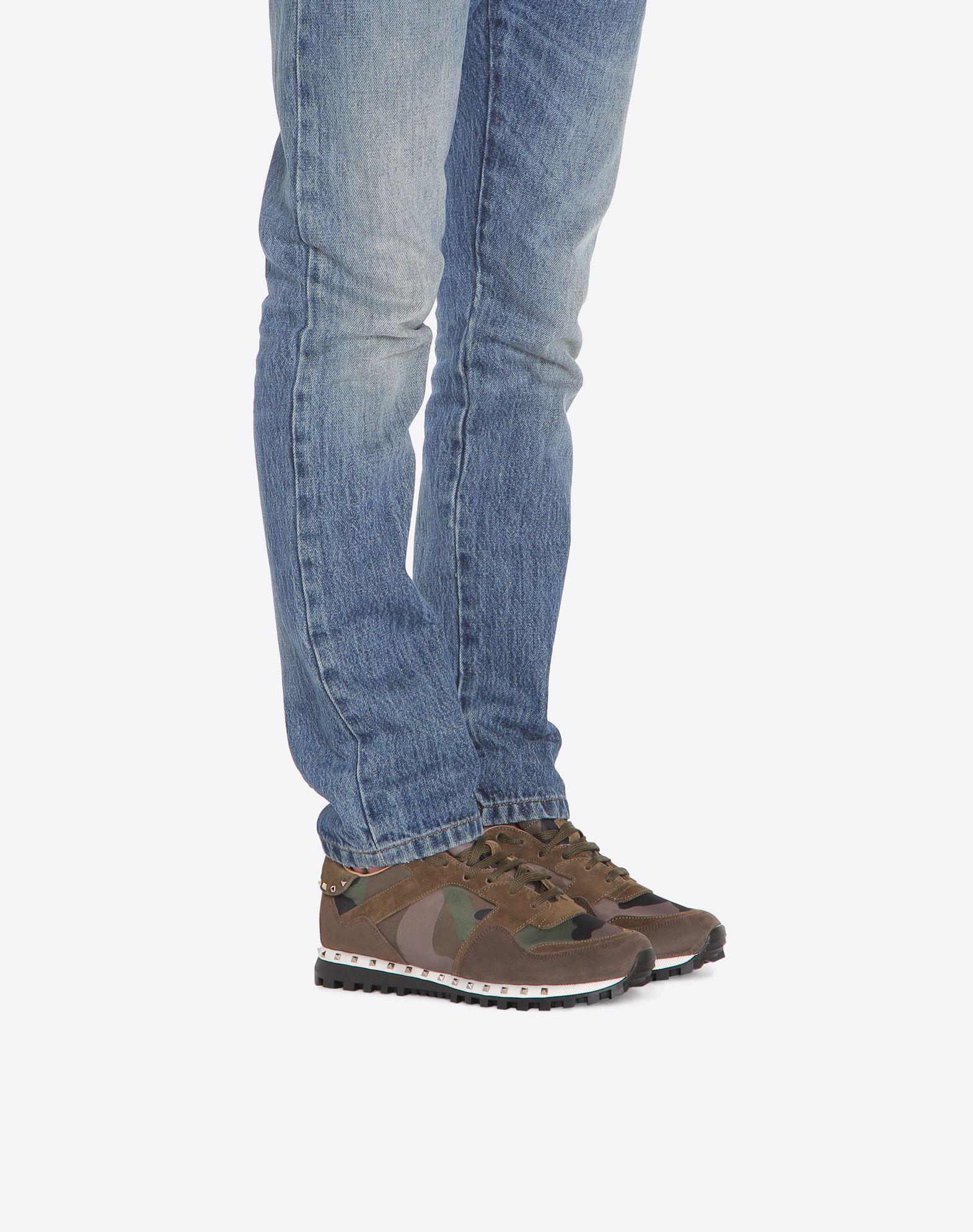 VALENTINO GARAVANI UOMO Camouflage Sneaker LOW-TOP SNEAKERS U a
