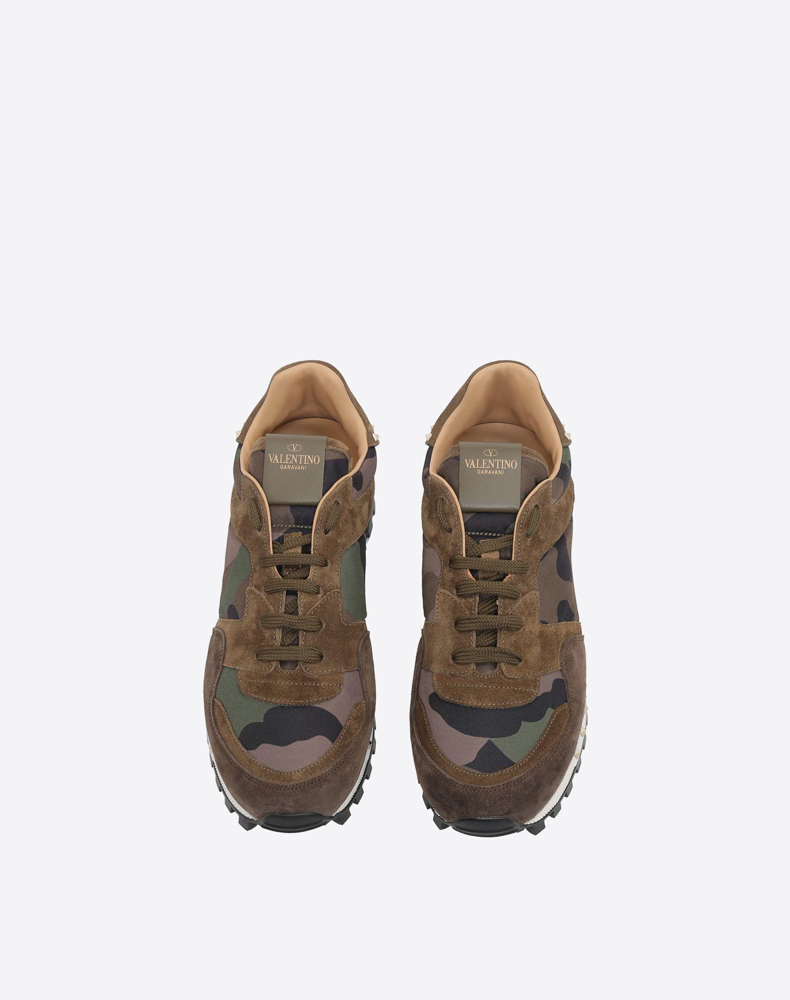 VALENTINO GARAVANI UOMO Camouflage Sneaker LOW-TOP SNEAKERS U e