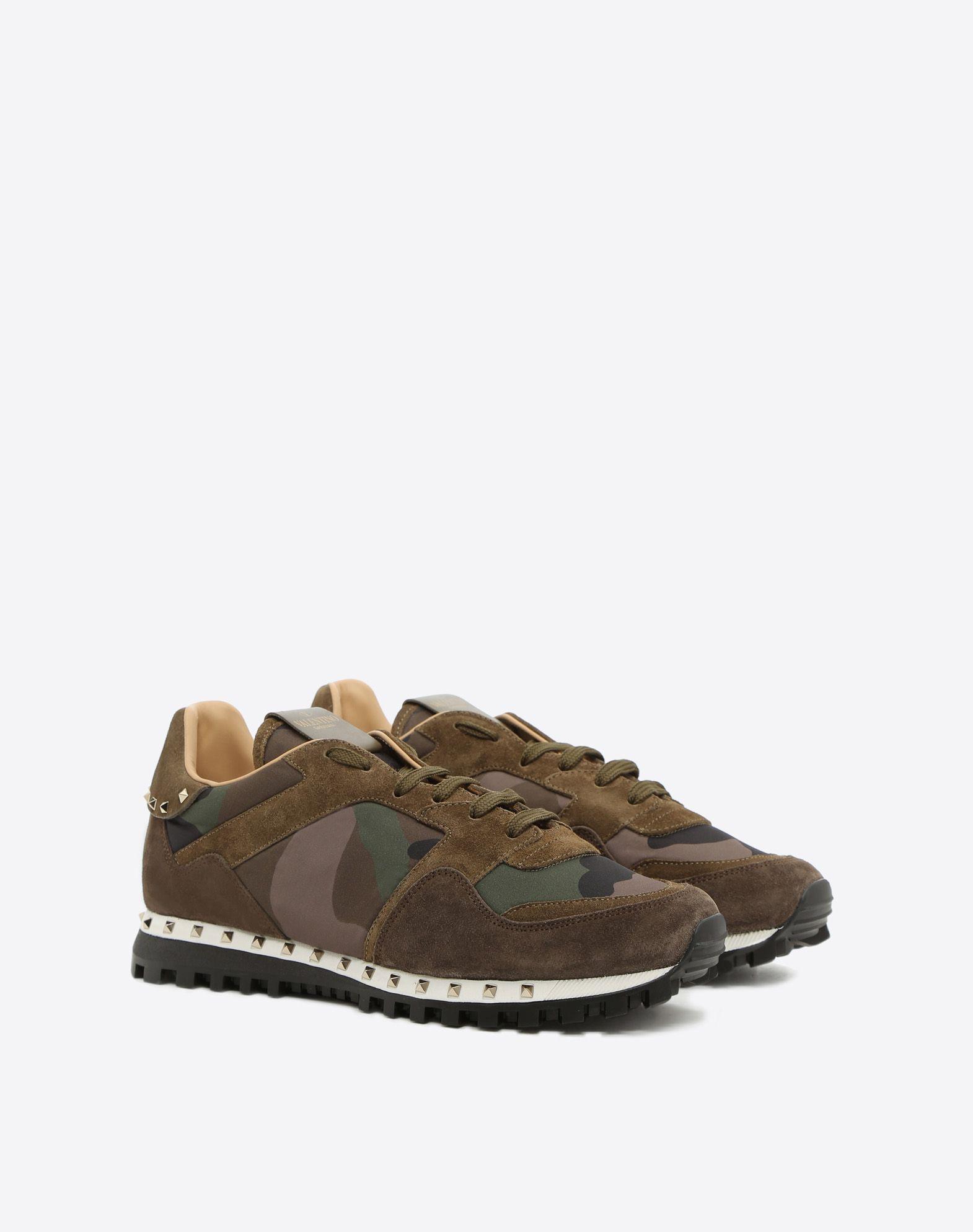VALENTINO GARAVANI UOMO Camouflage Sneaker LOW-TOP SNEAKERS U r