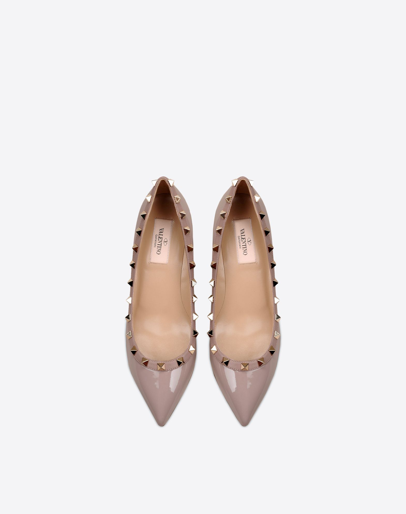 VALENTINO Varnished effect Studs Leather sole Narrow toeline Wedge heel  11059896re