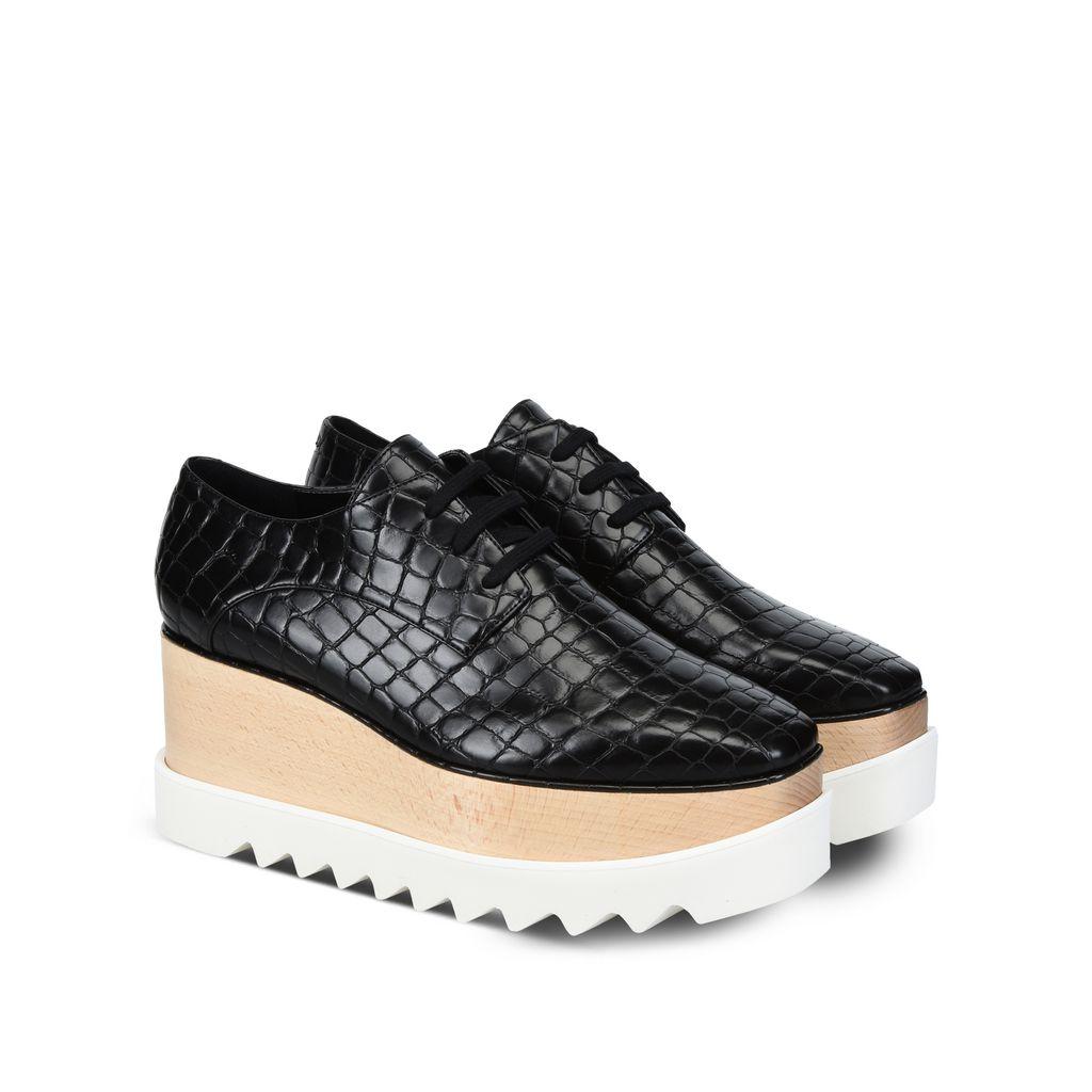 Black Alter Croco Elyse Shoes  - STELLA MCCARTNEY