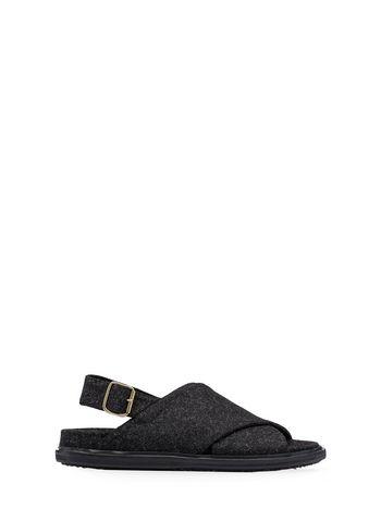 Marni Fussbett crossover sandal in felt Man