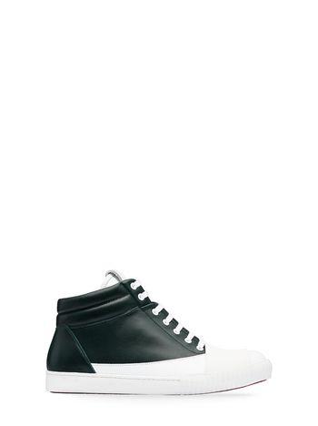 Marni High-top sneaker in two-tone leather Man