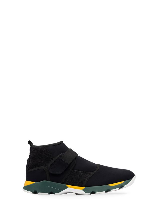 Marni Scuba sneaker in black felt Man - 1 ...