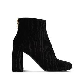 STELLA McCARTNEY Ankle Boots D Black Textured Velvet Boots  f