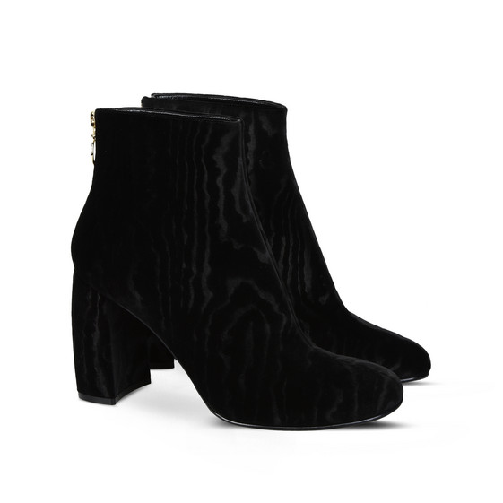 Bottines en velours noir texturé