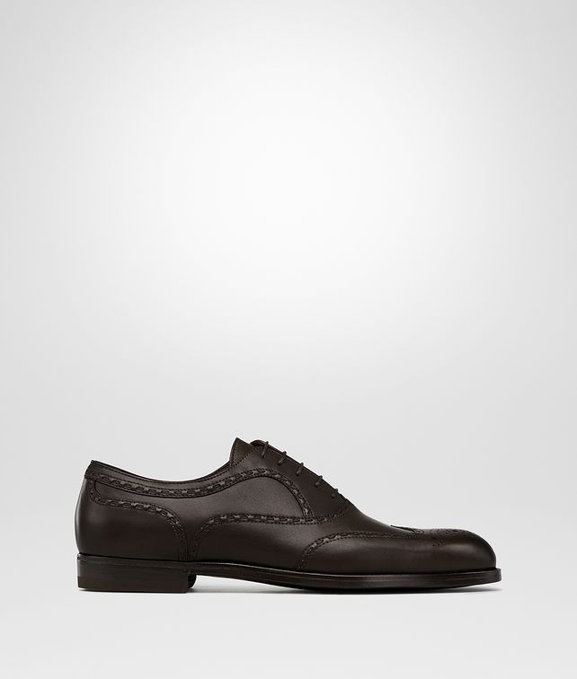 BOTTEGA VENETA NOTTINGHAM LACE UP IN ESPRESSO CALF Lace Up Man fp