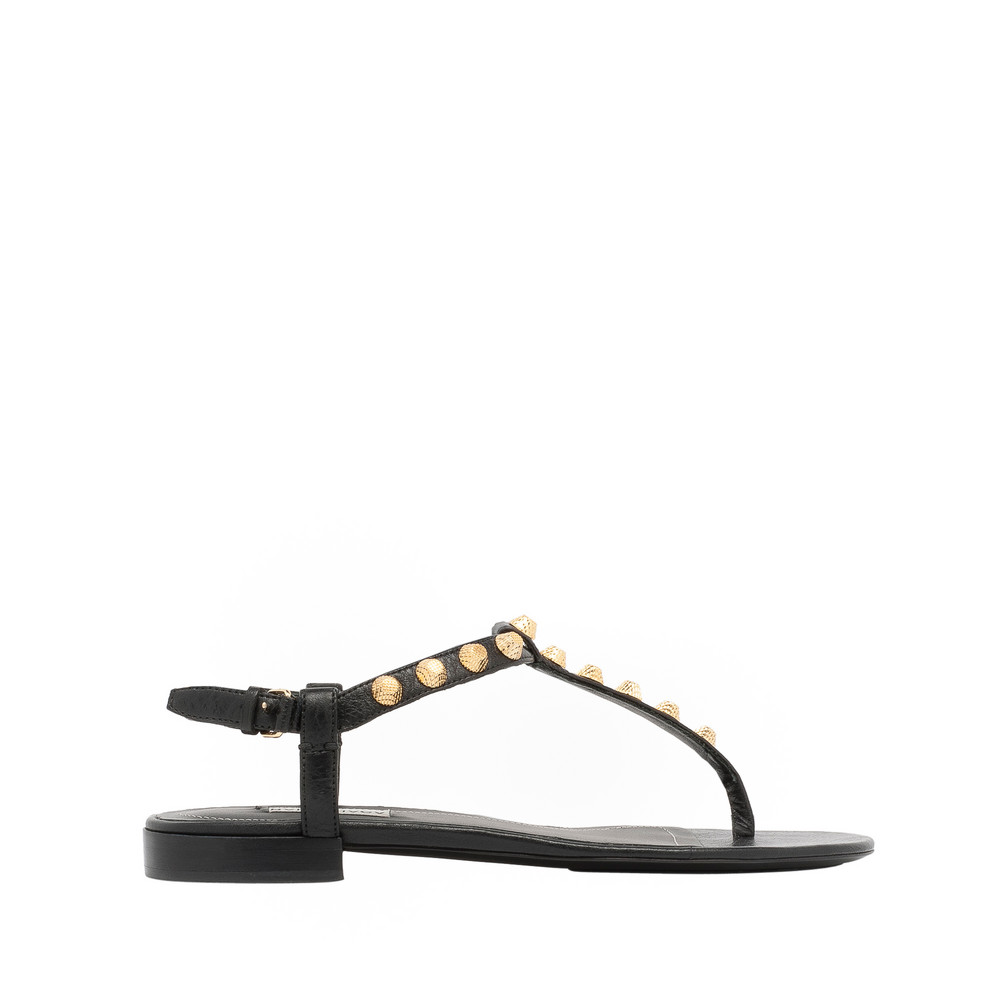 BALENCIAGA Arena Shoes D Giant Gold T-Strap Sandals f