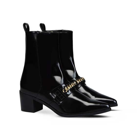 Bottines vernies noires