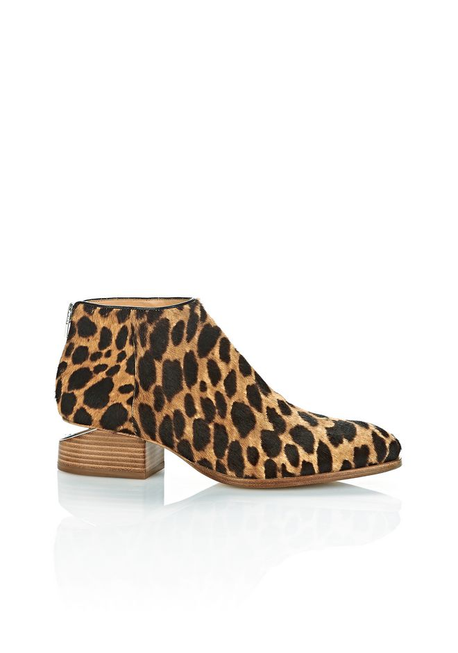 ALEXANDER WANG Boots Women LEOPARD KORI OXFORD WITH RHODIUM