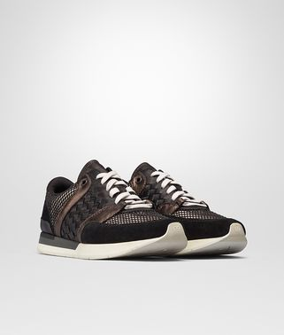 SNEAKER IN NERO SUEDE CREAM RUBBER BRUNITO GROS GRAIN