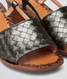 BOTTEGA VENETA ARGENTO ANTIQUE INTRECCIATO CALF SANDALS Pump or Sandal D ap
