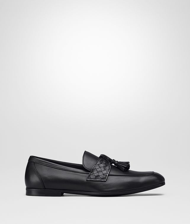 BOTTEGA VENETA MOCASSINS IN NERO CALF INTRECCIATO Mocassin or Slipper Man fp