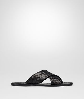 ESHER SANDALS IN NERO INTRECCIATO CALF
