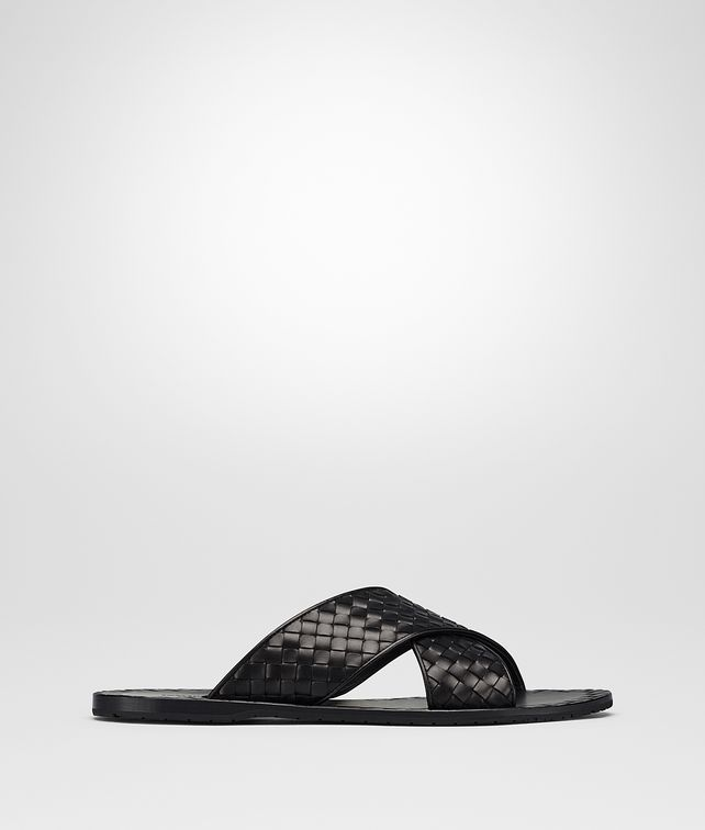 BOTTEGA VENETA ESHER SANDALS IN NERO INTRECCIATO CALF Sneaker or Sandal Man fp