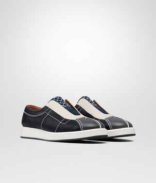 CHAUSSURES DE SPORT EN VEAU INTRECCIATO DARK NAVY MULTICOLORE