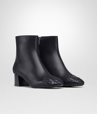CHERBOURG BOTTINES EN VEAU INTRECCIATO DARK NAVY