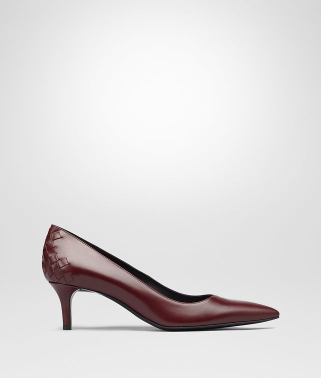 BOTTEGA VENETA TIPPIE PUMPS IN BAROLO CALF, INTRECCIATO DETAILS Pump or Sandal Woman fp