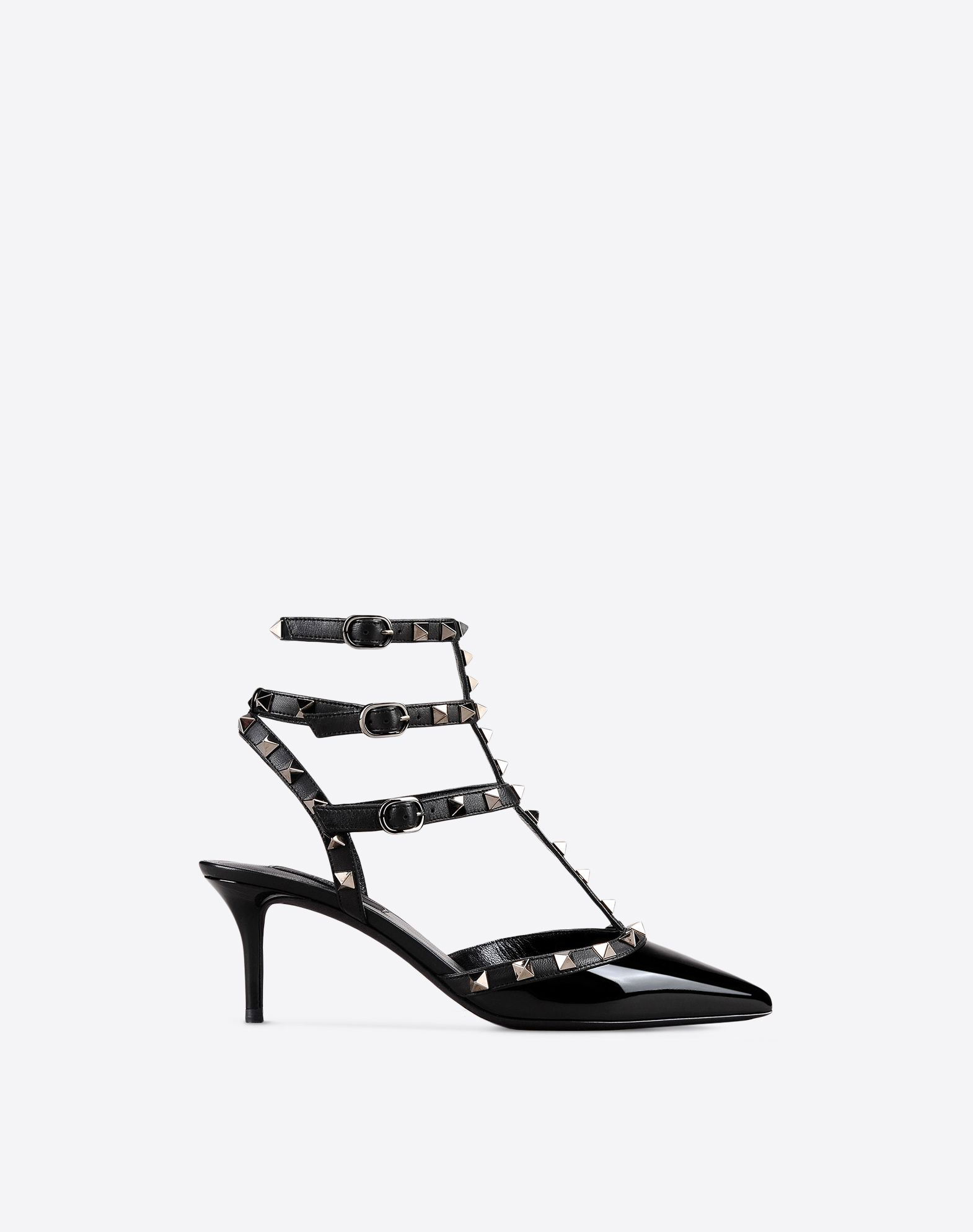 VALENTINO Varnished effect Studs Buckle  11070494rv