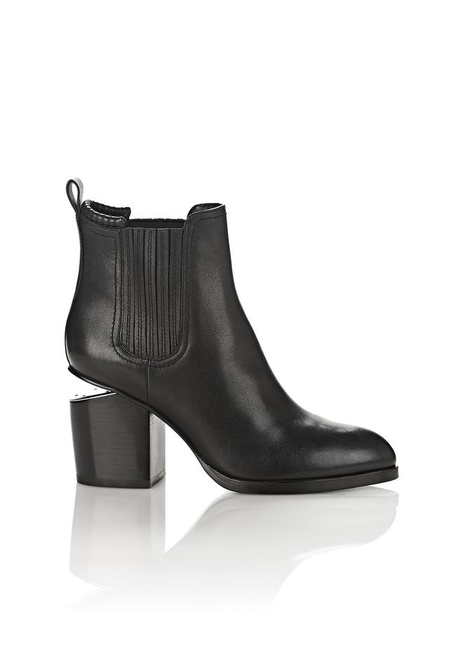 ALEXANDER WANG classics GABRIELLA BOOTIE IN BLACK WITH RHODIUM