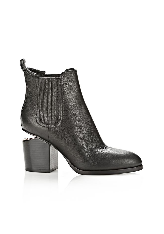 ALEXANDER WANG womens-classics GABRIELLA BOOTIE IN BLACK WITH ROSE GOLD