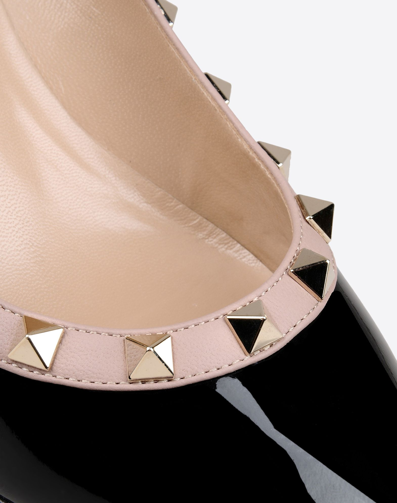VALENTINO Studs Varnished effect Leather sole Narrow toeline  11074292tq