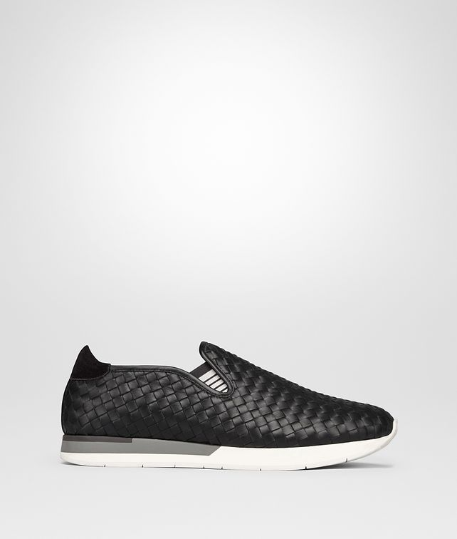 BOTTEGA VENETA SNEAKER IN NERO INTRECCIATO CALF Trainers Man fp