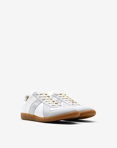 SHOES Calfskin 'Replica' sneakers Light grey