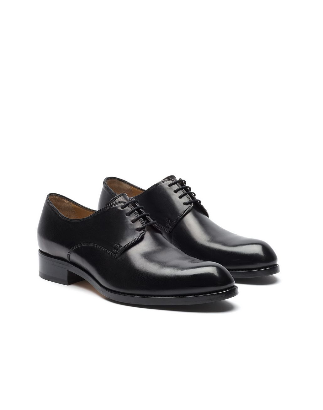 BRIONI Black Calfskin Derby Derbies Man d