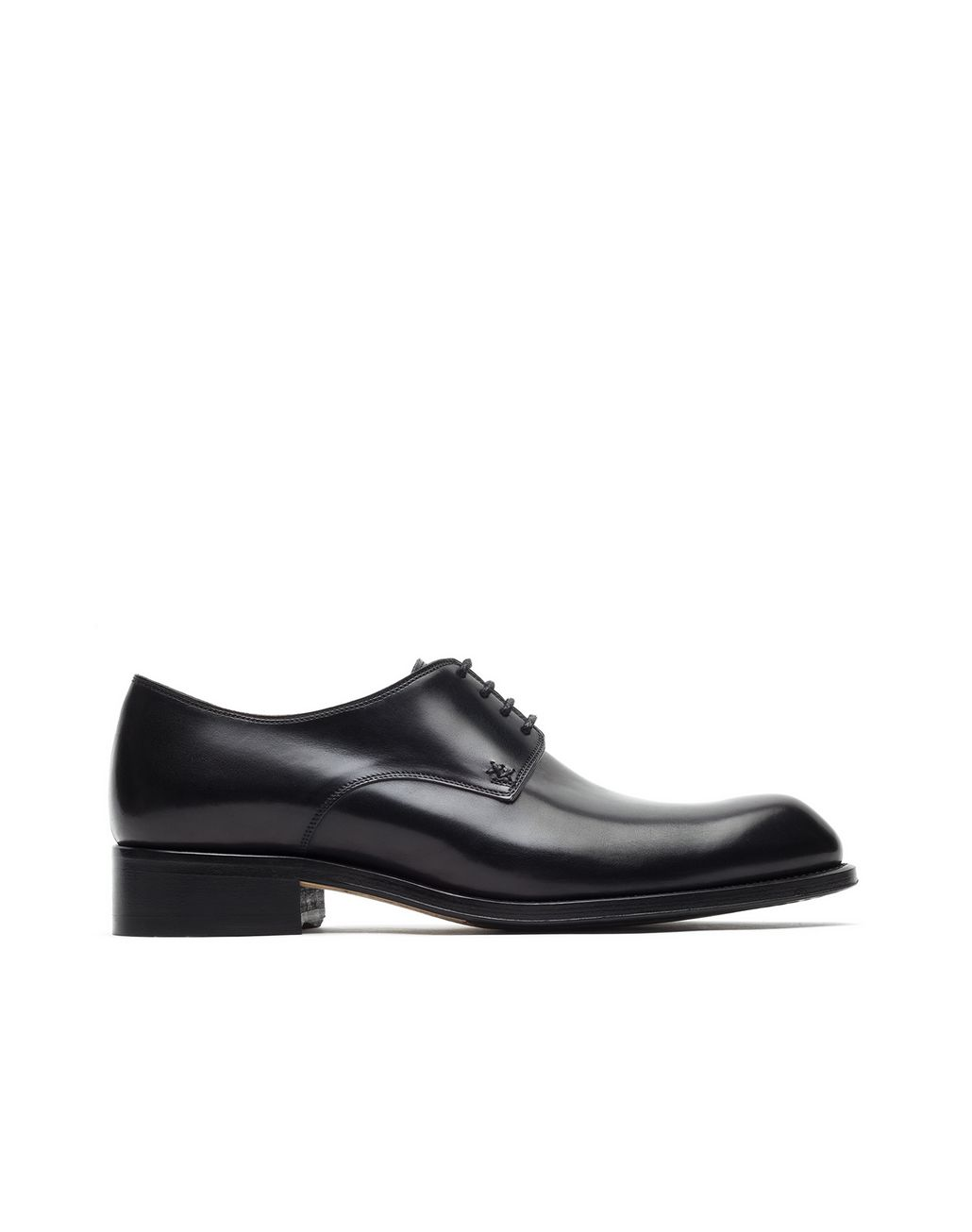 BRIONI Black Calfskin Derby Derbies Man f