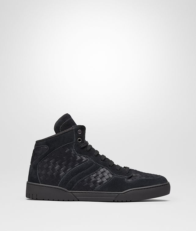 BOTTEGA VENETA HEEZE SNEAKER IN DARK NAVY INTRECCIATO CALF AND SUEDE Sneakers U fp