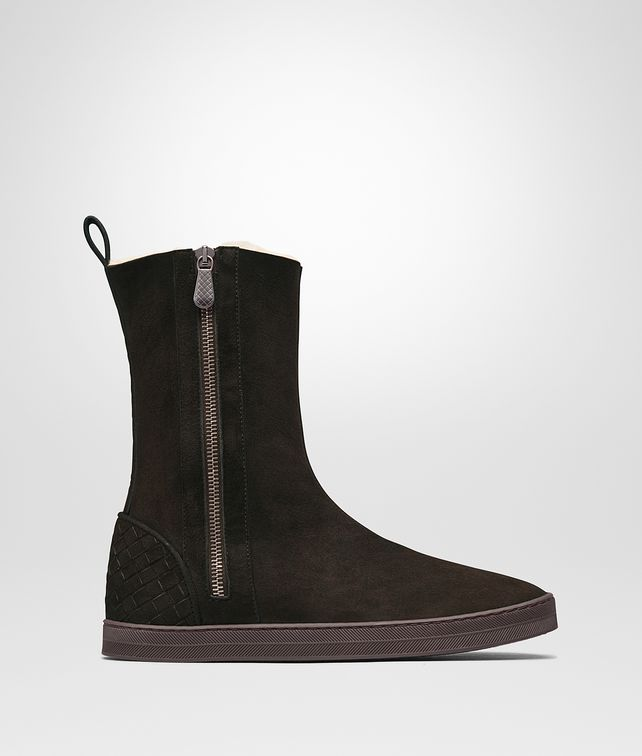 BOTTEGA VENETA WINTER LAGOON BOOTS IN ESPRESSO MONTONE, INTRECCIATO DETAILS Boots and ankle boots D fp