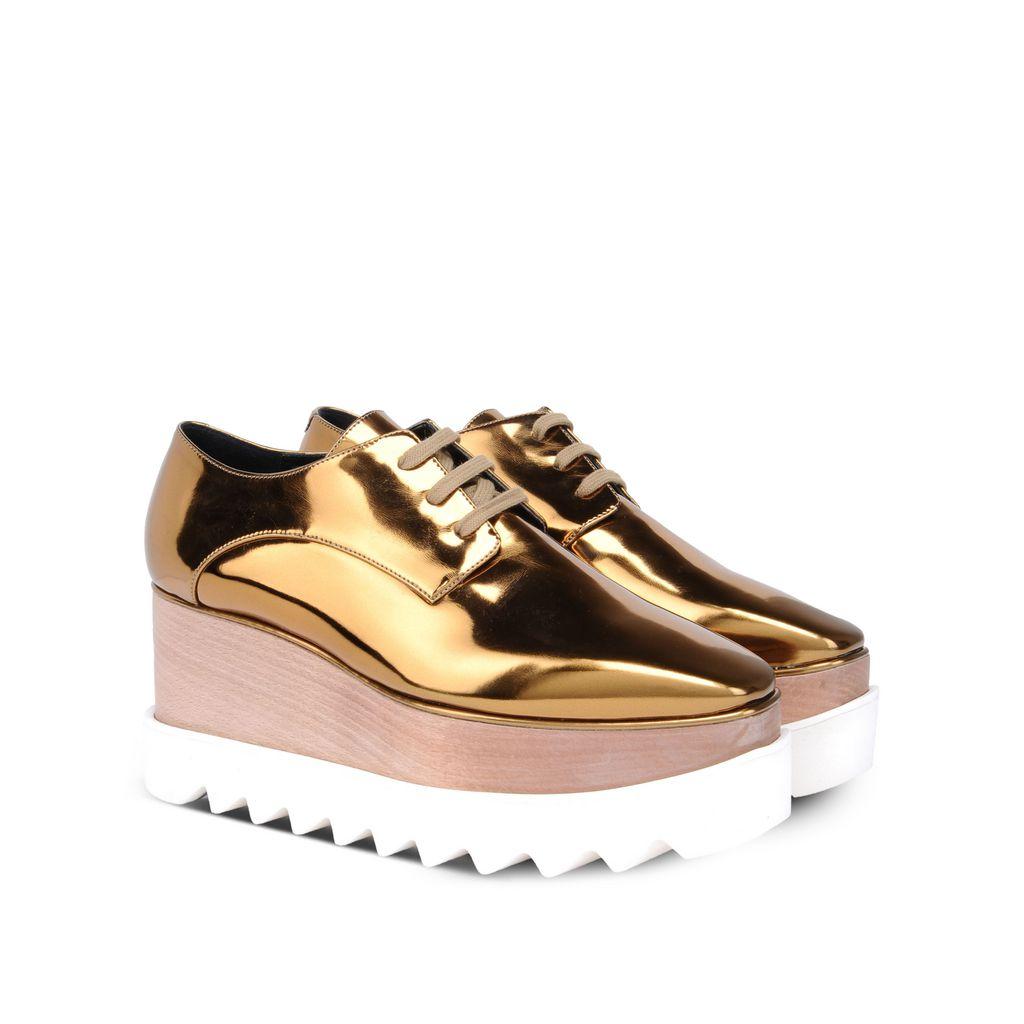 Gold Elyse Shoes - STELLA MCCARTNEY