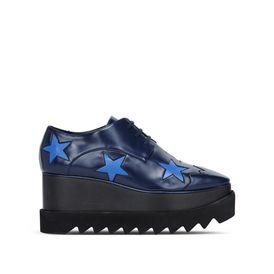 STELLA McCARTNEY Wedges D Blaue Schuhe Elyse mit Sternen f