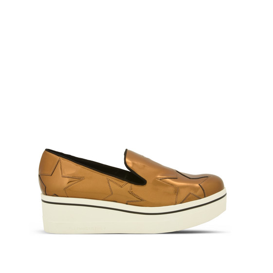 Gold Binx Star Loafers