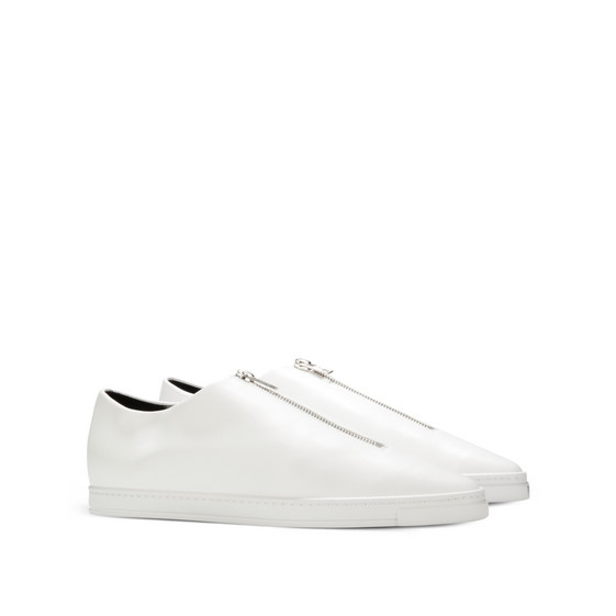 White Medusa Zip Sneakers